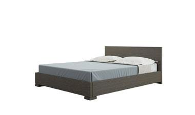 Двуспальная кровать As28.27. Декор венге, изголовье венге.