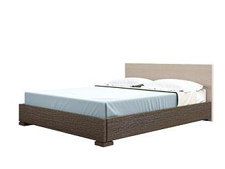 Двуспальная кровать As28.27. Декор венге, изголовье выбеленный дуб.