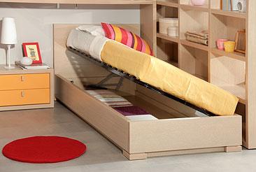 Подростковая односпальная кровать с подъёмным механизмом