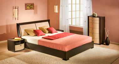 Спальня беленый дуб и венге