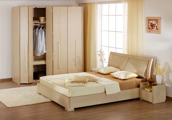 Спальный гарнитур беленый дуб