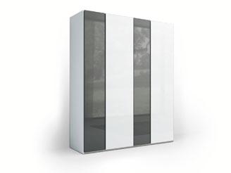 Чёрно-белый шкаф