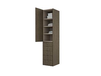 Одностворчатый шкаф с ящиками is151a