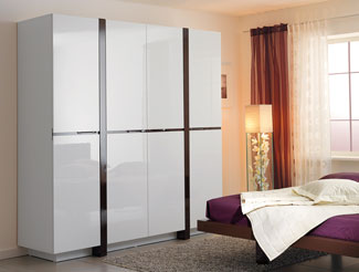 Шкаф белый глянец для спальни