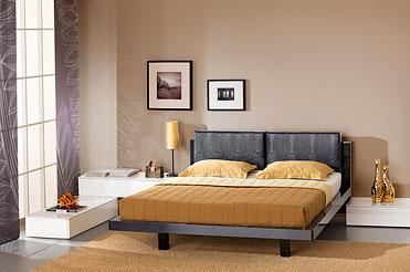 Черно белый спальный гарнитур