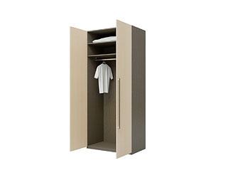 Двустворчатый шкаф с ламинированными фасадами KGP01AH