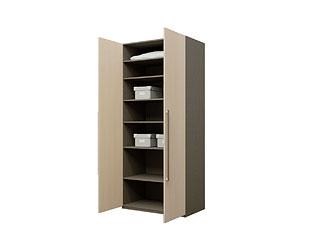 Двустворчатый шкаф с ламинированными фасадами KGP02A