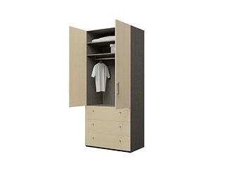 Двустворчатый шкаф с ящиками KGP03YA