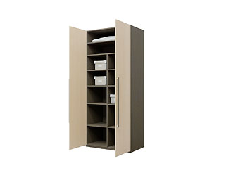 Двустворчатый шкаф с ламинированными фасадами KGP05A