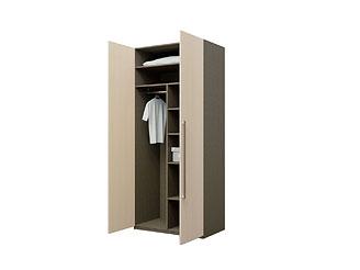 Двустворчатый шкаф с ламинированными фасадами KGP07A