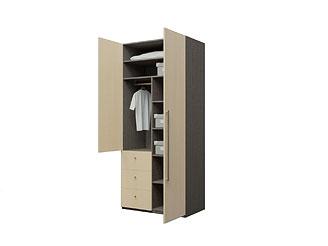 Двустворчатый шкаф с ящиками двухсекционный KGP27YA