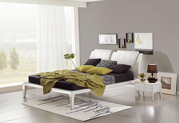 Кровать в спальню встиле хайтек