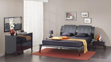 Черная спальная мебель