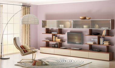 Модульные стенки в гостиную