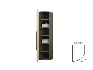 Одностворчатый шкаф с радиусным ламинированным фасадом TGP09CH