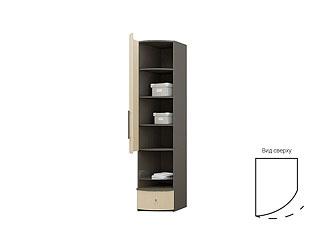 Одностворчатый шкаф с радиусными ламинированными фасадом и ящиком TGP11QCH