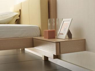 Подвесная прикроватная тумбочка для спальни