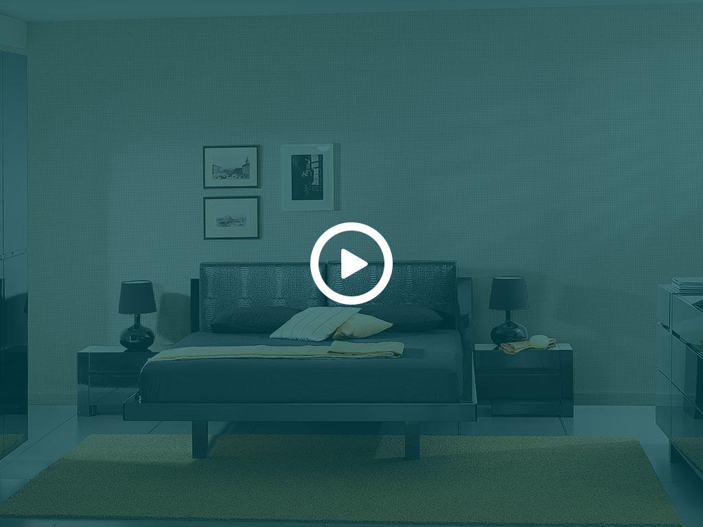 Спальня черный глянец